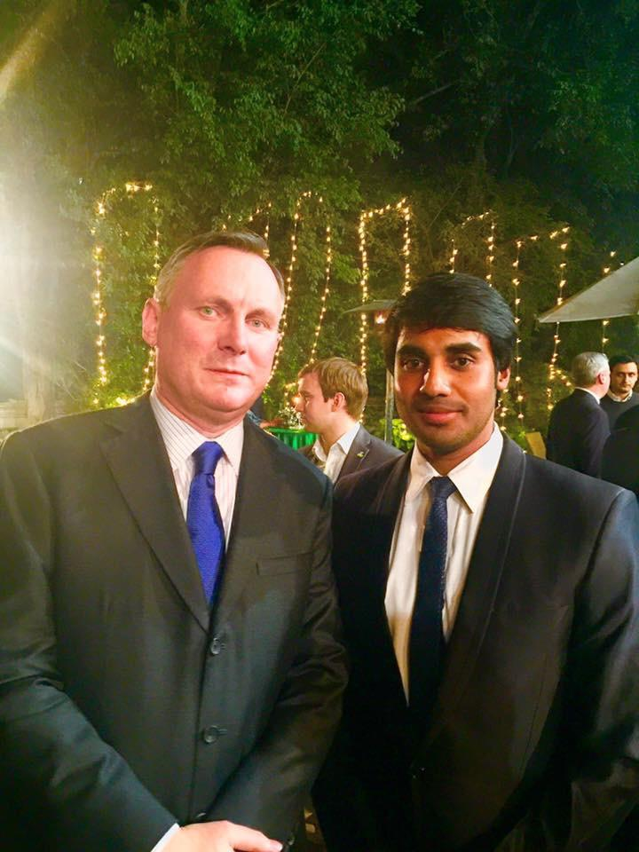 Best Indian student of Dublin Business School, Ireland at Republic of Ireland embassy residence, Delhi